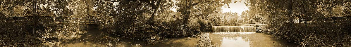 Along Woods Creek Lexington | James O. Phelps | 360 Degree Panoramic Photograph