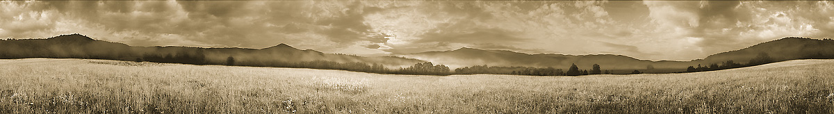 Dawn | Cades Cove | Great Smoky Mountains National Park | James O. Phelps | 360 Degree Panoramic Photograph