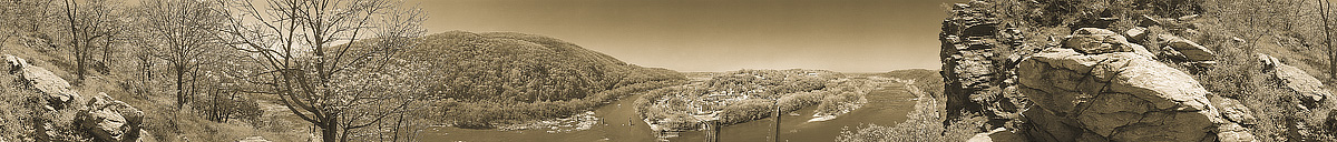 Harpers Ferry | Maryland Heights | James O. Phelps | 360 Degree Panoramic Photograph