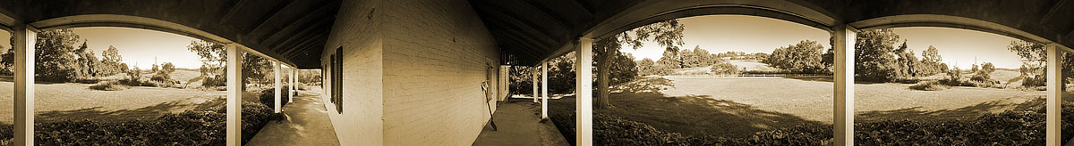 The Porch On The Kinnear Farm Rockbridge County | James O. Phelps | 360 Degree Panoramic Photograph