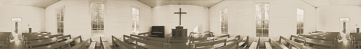 Palmer Chapel Interior | Big Cataloochee Valley | Great Smoky Mountains National Park | James O. Phelps | 360 Degree Panoramic Photograph