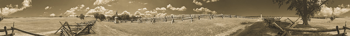 Sunken Road | Bloody Lane | Antietam | Sharpsburg | James O. Phelps | 360 Degree Panoramic Photograph