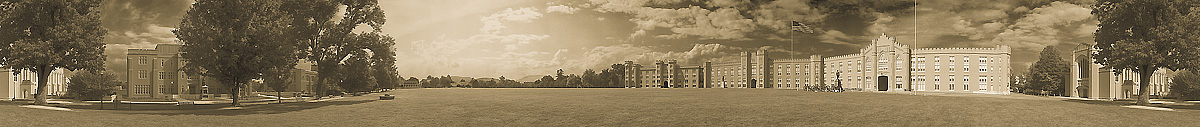 Virginia Military Institute | VMI | Parade Ground | Lexington Virginia | James O. Phelps | 360 Degree Panoramic Photograph