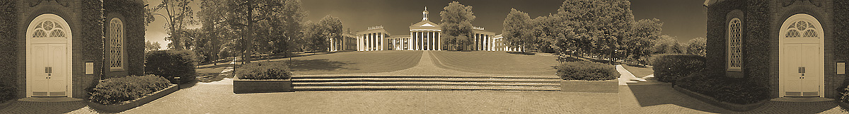 The Colonnade From Lee Chapel | Washington & Lee University | W&L | W and L | James O. Phelps | 360 Degree Panoramic Photograph